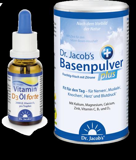 Dr. Jacob's Basenpulver plus + Vitamin D3 forte